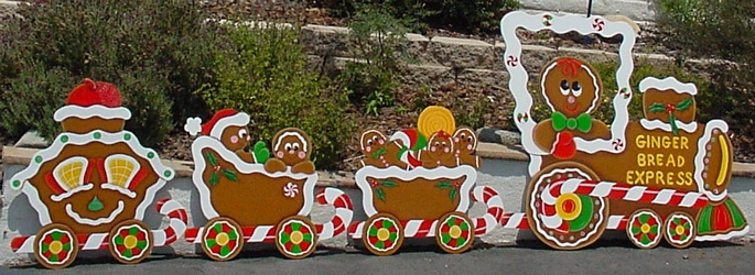 christmas gingerbread train set - Christmas Train Yard Decoration